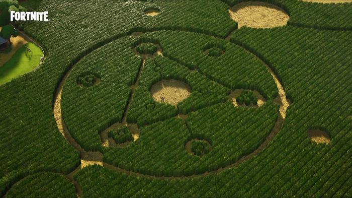 Fortnite Season 7 alien crop circle