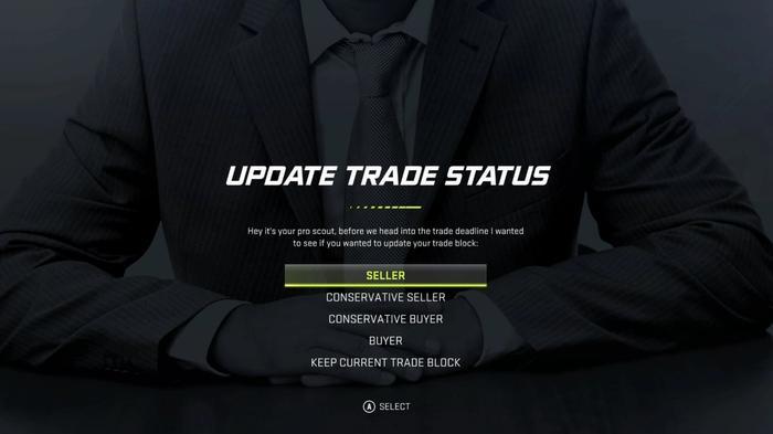 NHL 21 Franchise Mode Trade Deadline