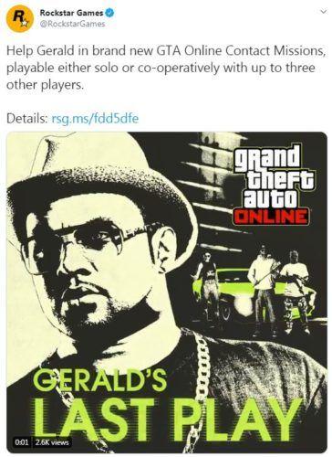 gta v online geralds last play update
