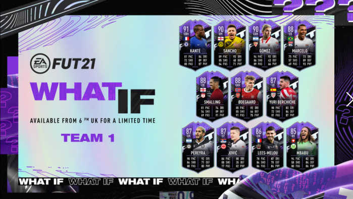 fifa 21 ultimate team what if team 1