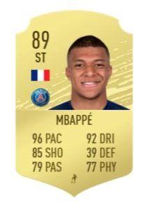 mbappé fifa 21 prediction