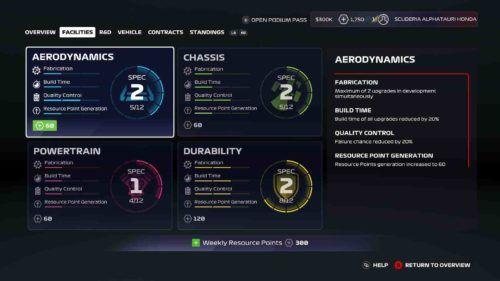 F1 2020 career menus