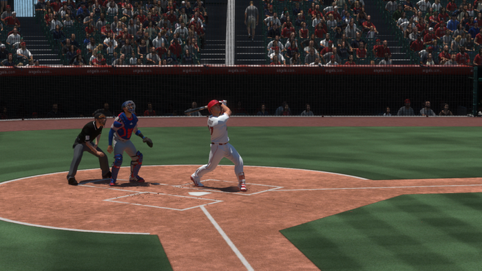 Mike Trout at the plate in MLB The Show 19
