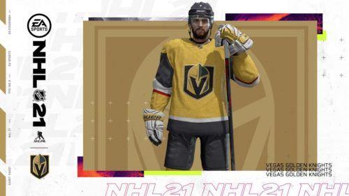 NHL 21 Patch 1 2 Vegas Golden Knights jersey 1
