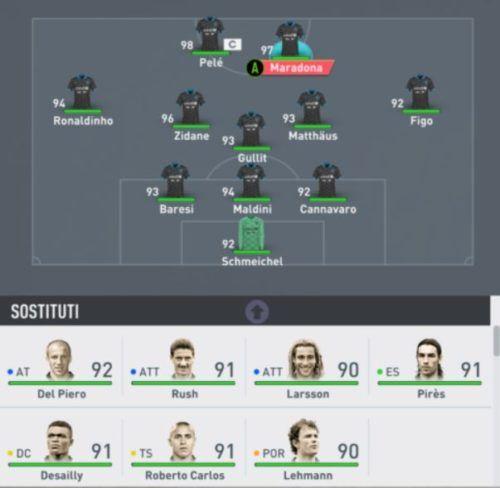 soccer aid xi starting lineup fifa 20