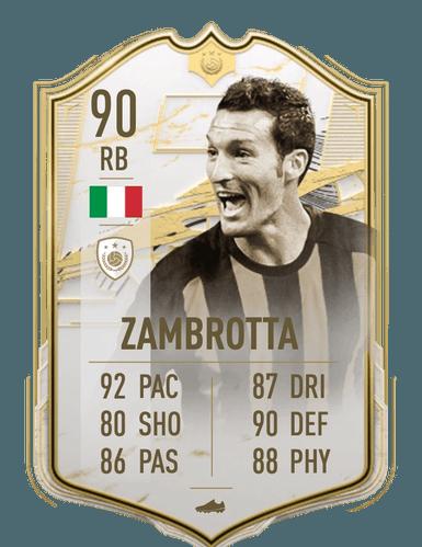 fifa 21 Gianluca Zambrotta prime icon moments sbc ultimate team