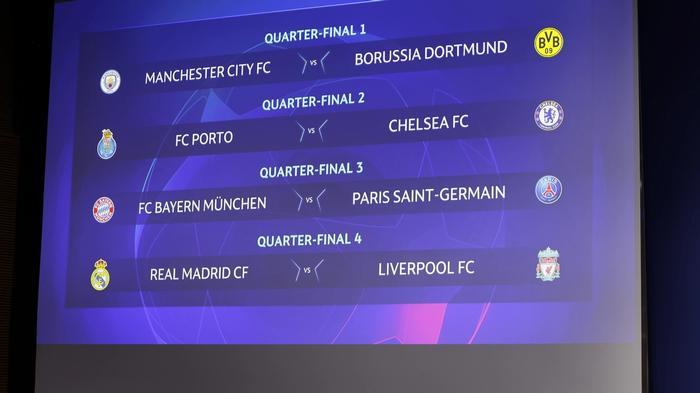 uefa champions league quarter-final draw 2021