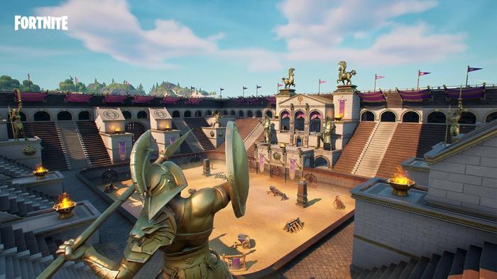 Fortnite Colossal Colosseum key promo art