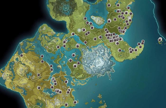 Genshin Impact Iron Chunks Map Locations