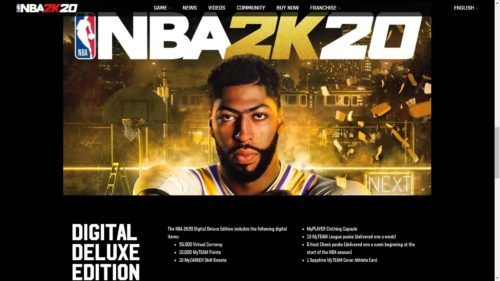 NBA 2K20 Digital Deluxe Edition virtual currency myteam tokens 1