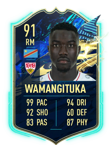Silas Wamangituka's TOTS SBC card is quite powerful