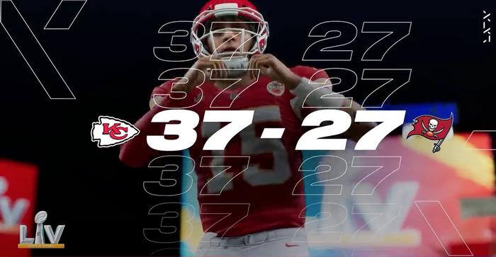 Madden 21 Chiefs Bucs Super Bowl final score