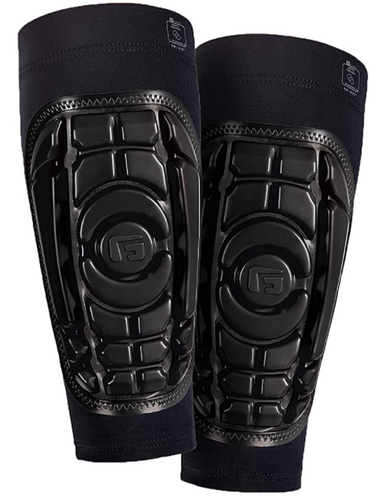 Best shin pads G-Form product image of a pair of black shin pads