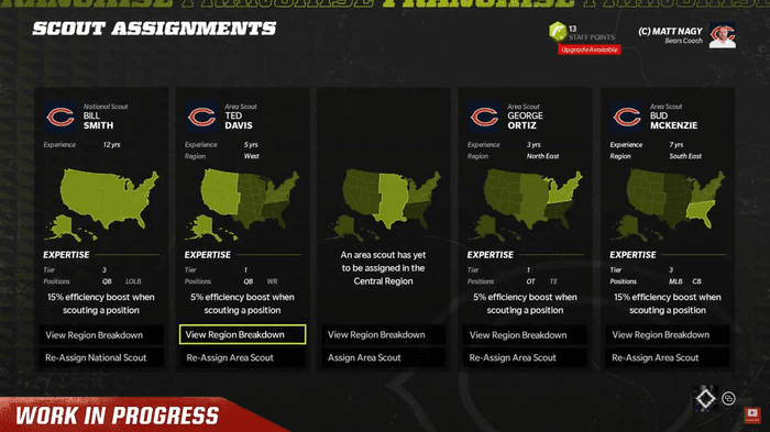 Madden 22 EA Play Live Franchise Mode Scouting