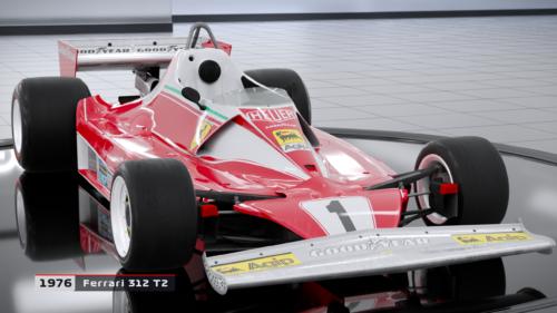 Niki Lauda's 1976 Ferrari in F1 2018