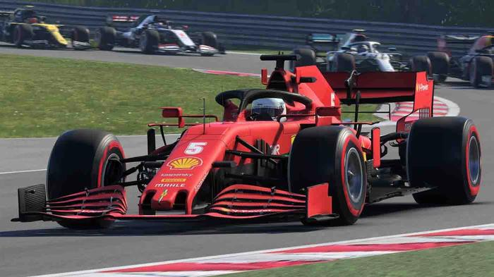 Sebastian Vettel's Ferrari in F1 2020