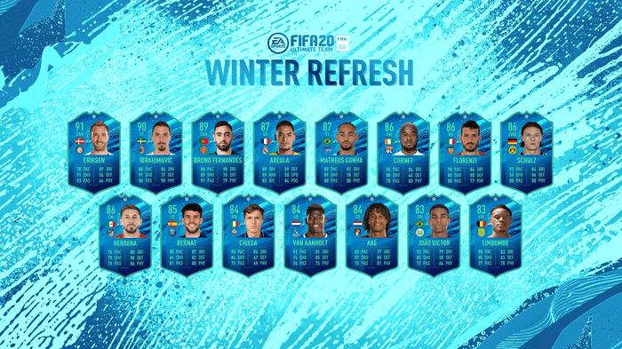 winter refresh team fut 20