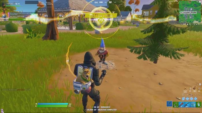 Fortnite Dig Up Gnomes In Fort Crumpet and Pleasant Park 4