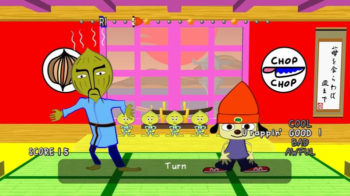PaRappa The Rapper PS1 Level 1 Dojo Onion