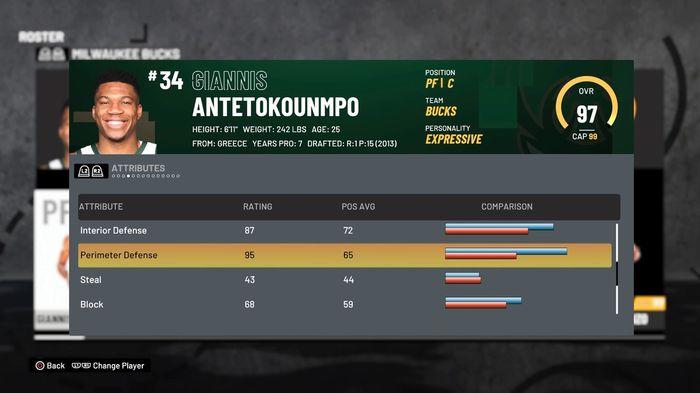Giannis Defending 2K21