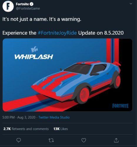 Fortnite JoyRide Update