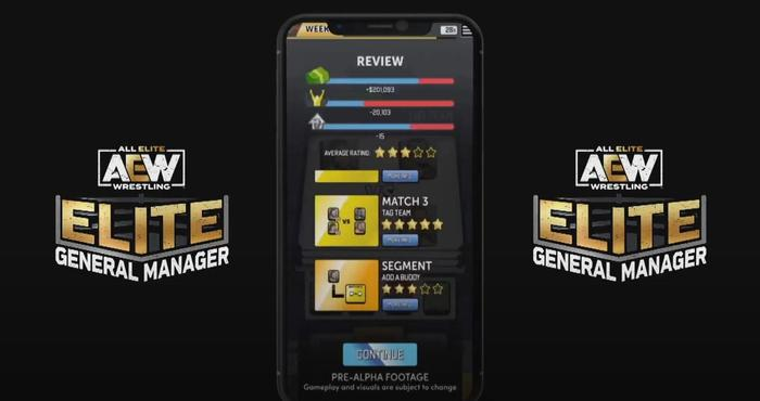 AEW Elite General Manager mobile game