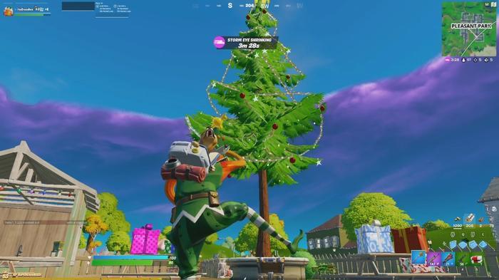 DANCING AROUND THE CHRISTMAS TREE: Christmas trees provide guaranteed loot.