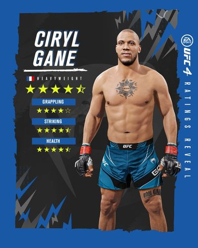 UFC 4 Ratings Roster Update Reveal Ciryl Gane