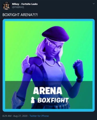 fortnite season 4 new game mode boxfight arena