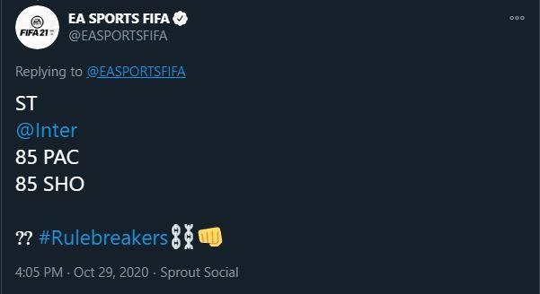 FIFA 21 Rulebreakers team 2 hint reveal teaser