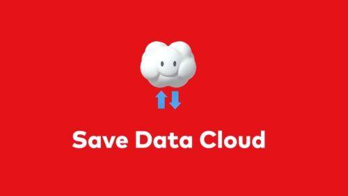 Save data cloud logo.