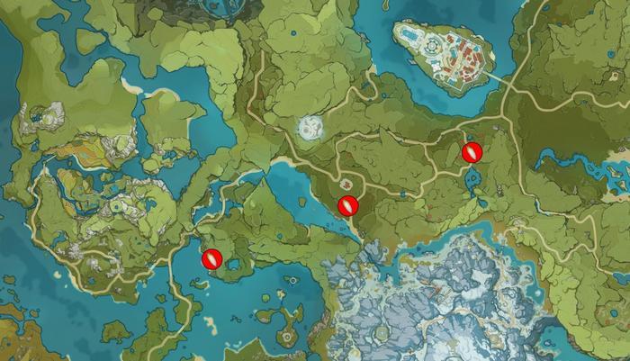 Genshin Impact radish map