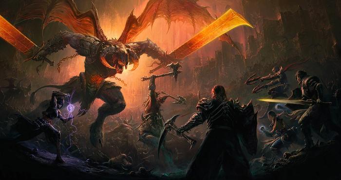 Diablo Immortal key art demon