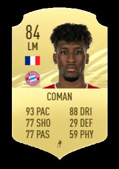 Coman's FIFA 22 prediction