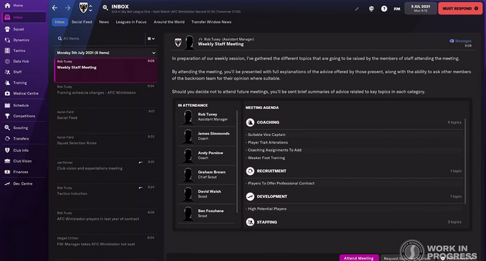 SHARING IS CARING - FM22's new staff meetings will allow you delegate tasks to your backroom staff
