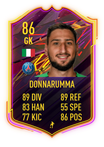 fifa 22 otw card Donnarumma 86