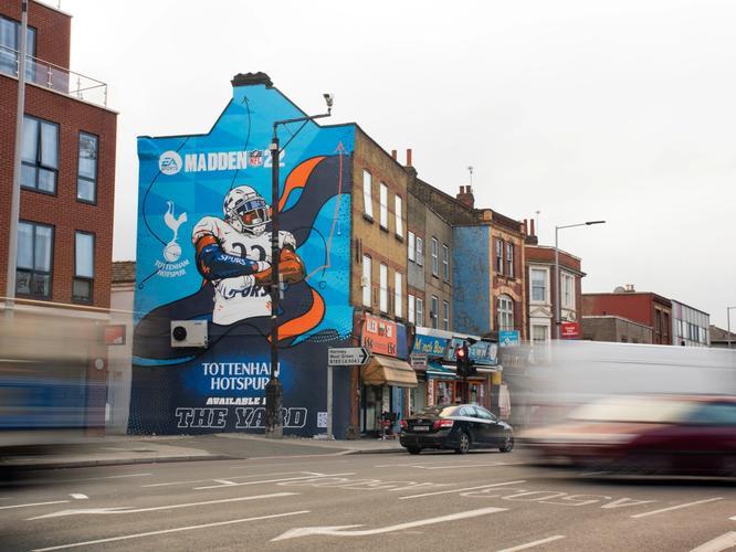 Madden 22 mural Tottenham Hotspur Stadium