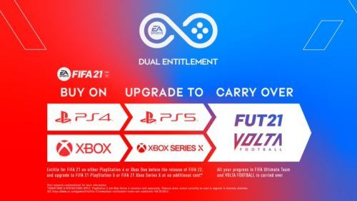 fifa 21 ps5 series x free upgrade deual entitlement