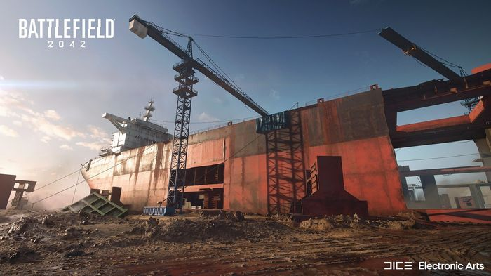 Battlefield 2042 map Discarded ship crane