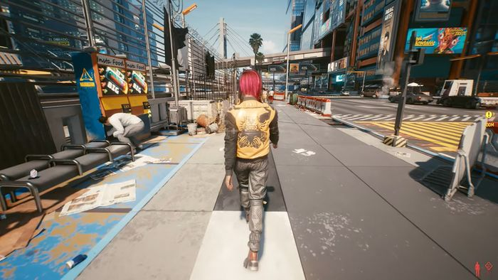 cyberpunk 2077 walking in the third person