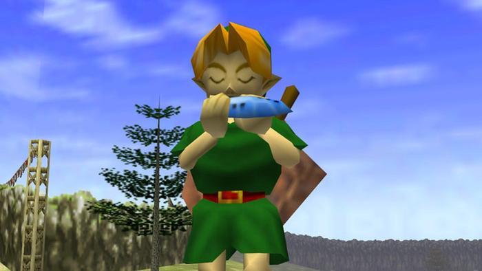 The Legend of Zelda Ocarina of Time Link Ocarina N64 Nintendo 64