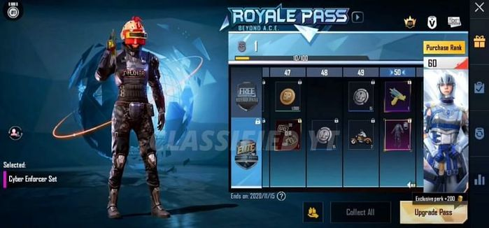 RP 50 - The previous helmet look great with the Cyber Enforcer Set