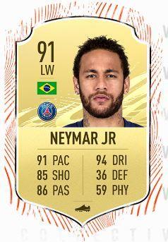neymar fifa 21 rating