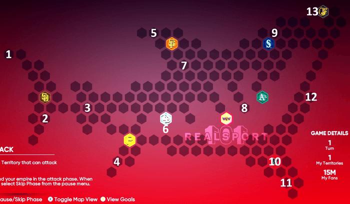 MLB The Show 21 Shark 3.0 Map Conquest Map Hidden Rewards Locations