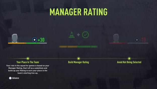 manager ratings fifa 22 career mode player career