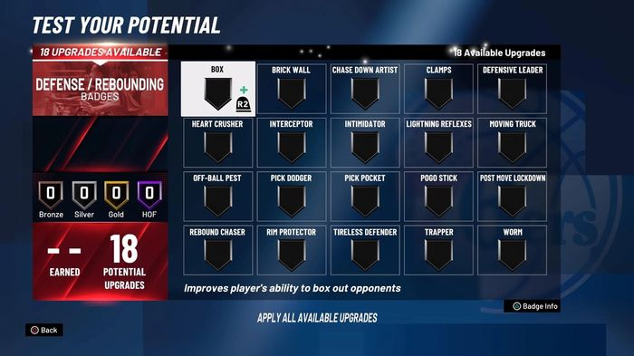 NBA 2K21 demo MyPLAYER Badges Pogo Stick Intimidator 1