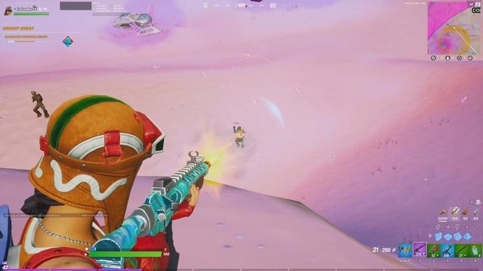 Fortnite Chapter 2 Season 5 in-game Ginger Renegade firing Assault Rifle