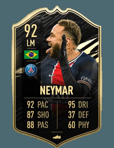 FIFA 21 Neymar Jr inform 92 ultimate team