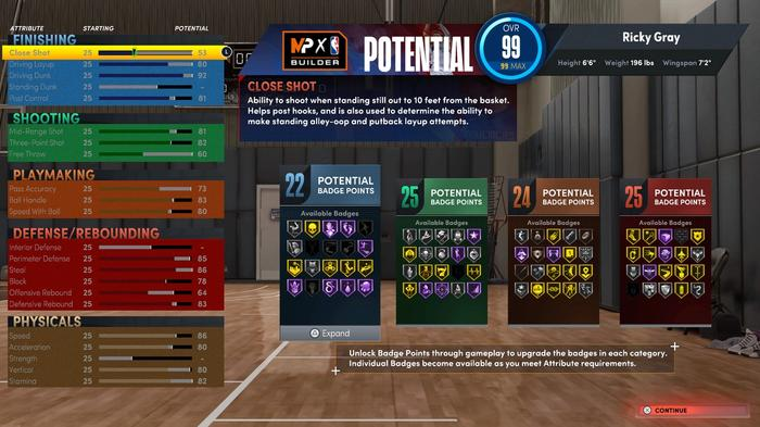 MyPLAYER Build from NBA 2K22