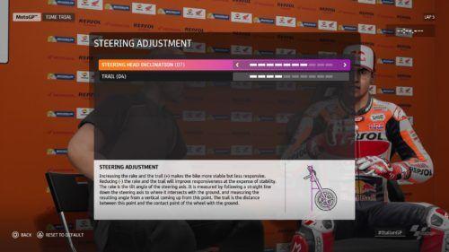 MotoGP™20 Steering Adjustment setup Italy